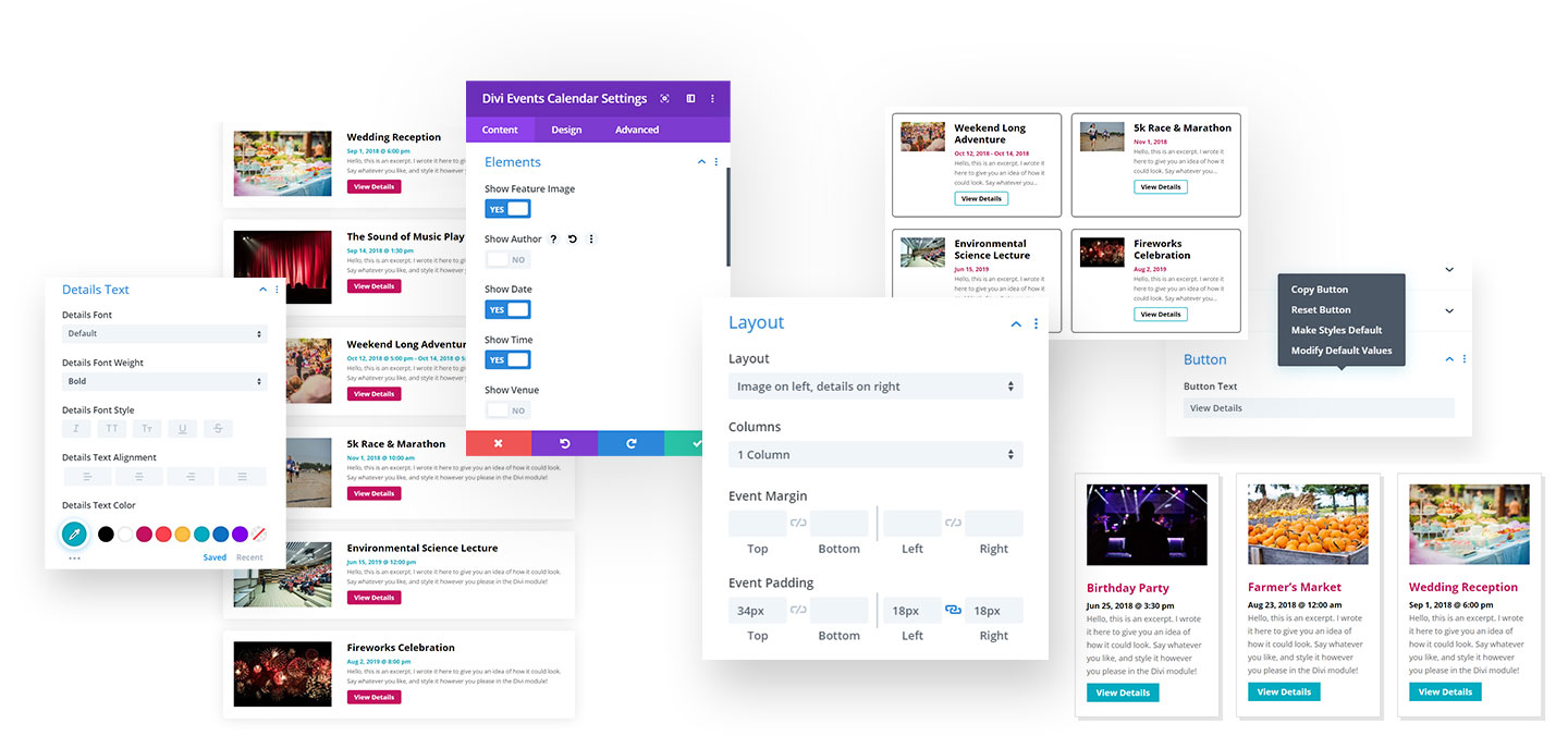 Divi Events Calendar Feed Module